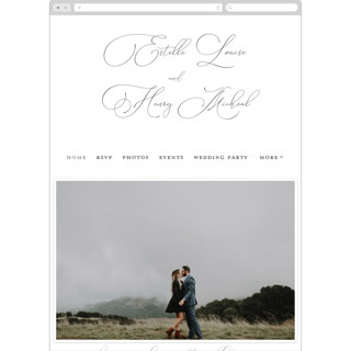 This is a blue wedding website by Stacey Meacham called Written Word printing on digital paper.