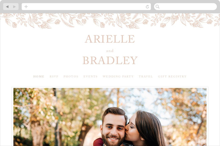This is a brown wedding website by Susanne Kasielke called Celebration of Flowers printing on digital paper.