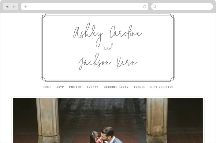 This is a brown wedding website by Erin Deegan called Traditional Twist printing on digital paper.