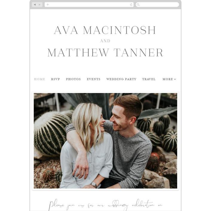 """Eucalyptus Monogram"" - Wedding Websites in Stone by Carolyn MacLaren."