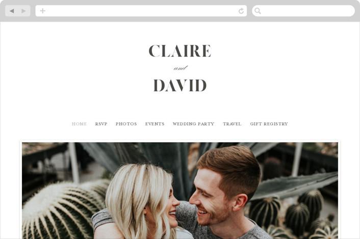 This is a black wedding website by Kelly Schmidt called Minimal Elegance printing on digital paper.