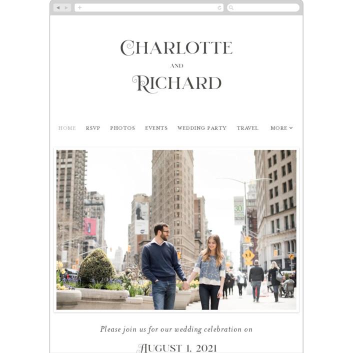 """Deco Details"" - Wedding Websites in Soft Black by Bethan."