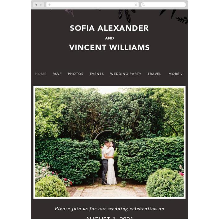 """Garden"" - Wedding Websites in Midnight by Joyce Pinheiro."