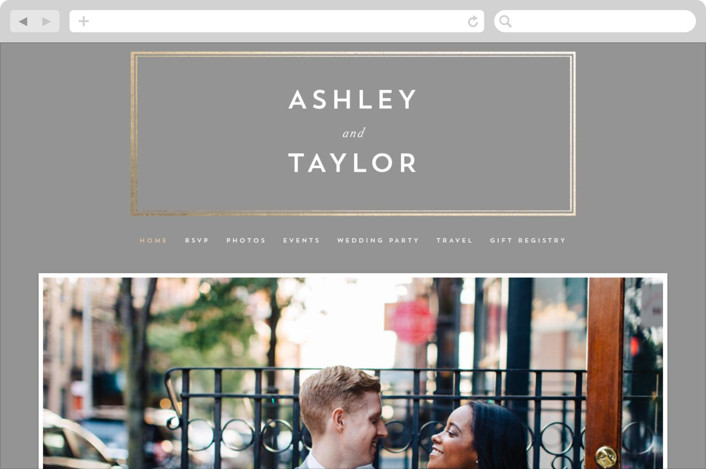 """Our Gilded Love"" - Wedding Websites in Dove by AK Graphics."