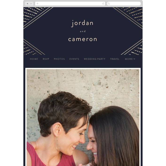 """Apache"" - Wedding Websites in Navy by Annie Montgomery."