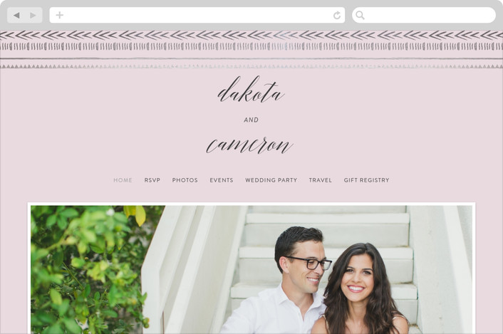 This is a purple wedding website by Joanna Griffin called Gilded Chevron printing on digital paper.