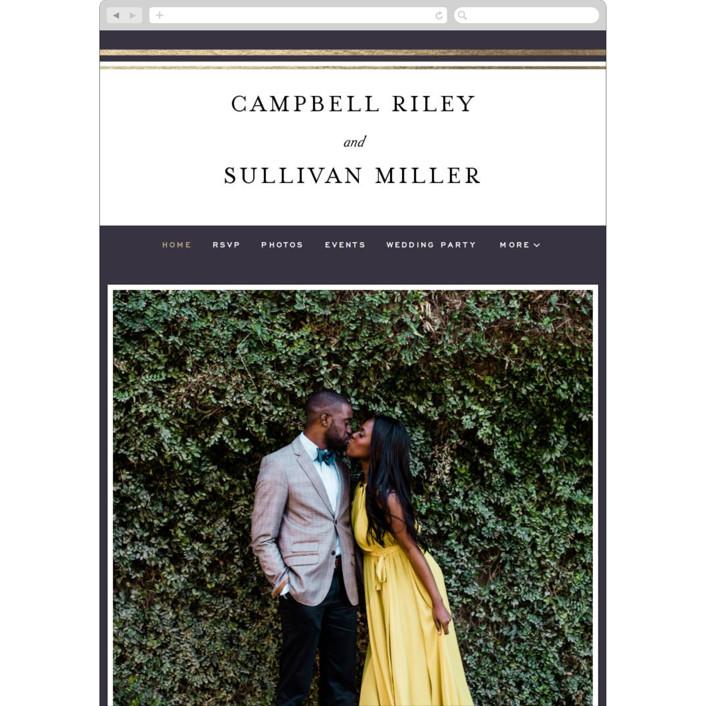 """""""Prelude"""" - Wedding Websites in Denim by Susan Brown."""