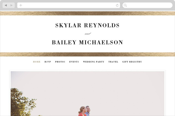This is a black and white wedding website by Stacey Meacham called Classic Monogram printing on digital paper.