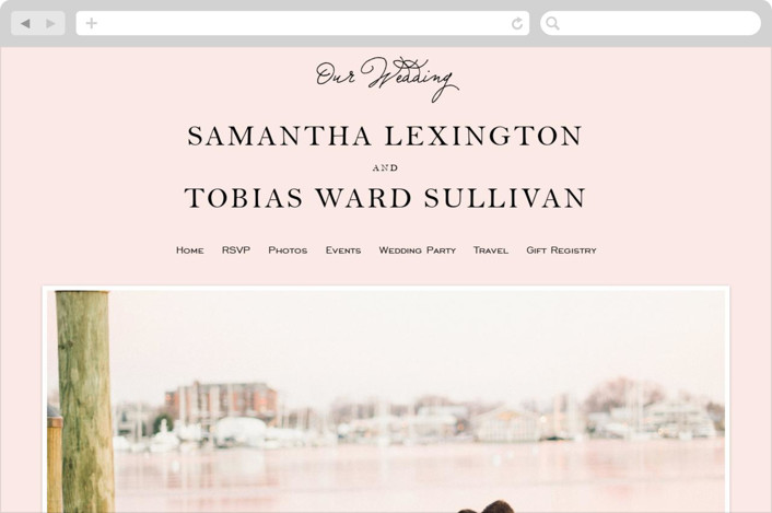 """Estate"" - Wedding Websites in Blush by Kim Dietrich Elam."