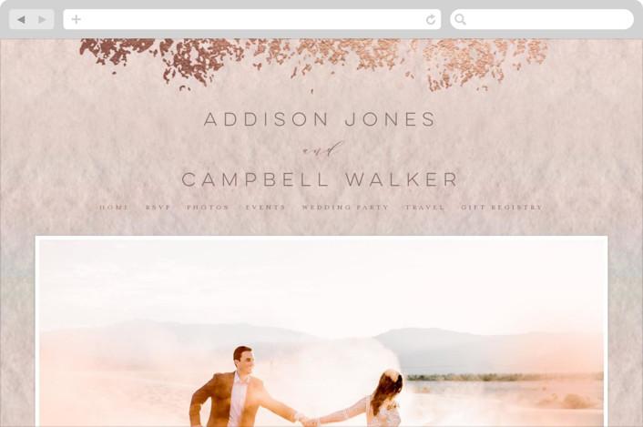 """""""Mood"""" - Wedding Websites in Coral by Grace Kreinbrink."""