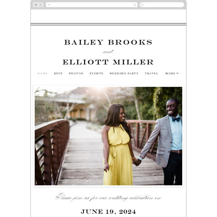 """Downtown"" - Wedding Websites in Onyx by Lauren Chism."