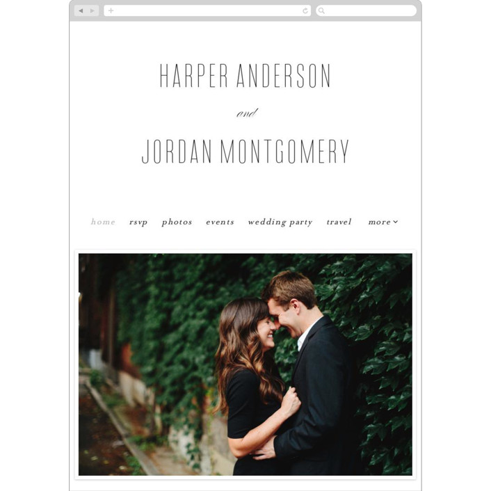 """""""Scripted Ampersand"""" - Wedding Websites in Classic by Roxy Cervantes."""