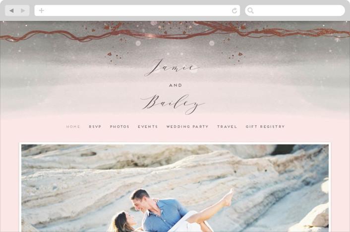 """""""Natural Elegance"""" - Wedding Websites in Morganite by iamtanya."""