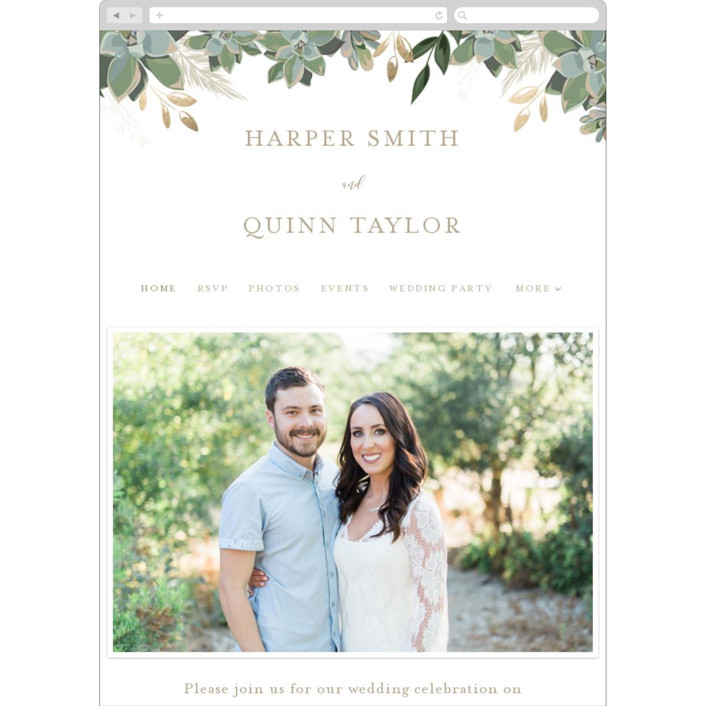 """Succulent Surround"" - Wedding Websites in Cloud by Susan Moyal."