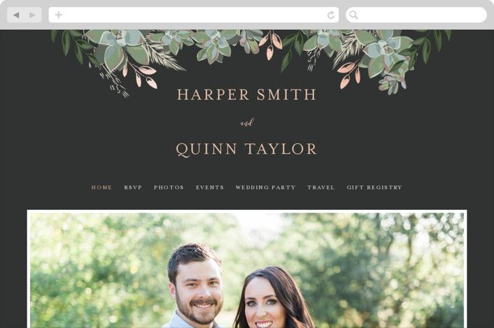 Succulent Surround Wedding Websites