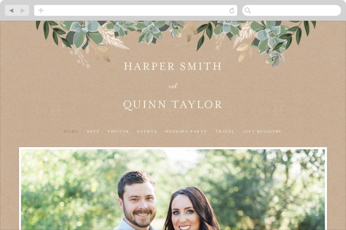 This is a beige wedding website by Susan Moyal called Succulent Surround printing on digital paper.
