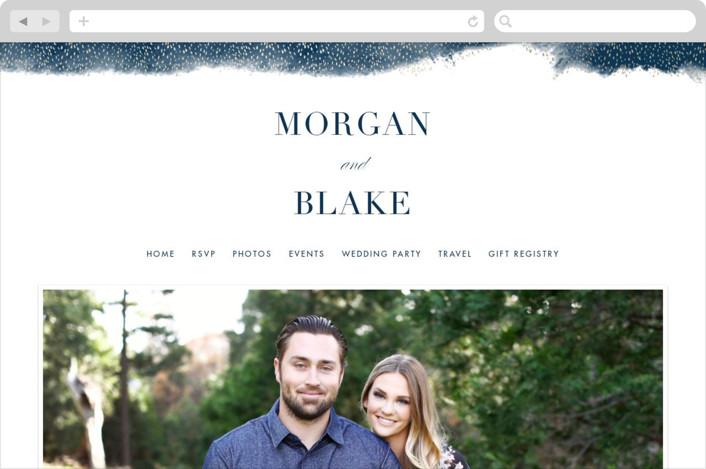 """""""Boho Chic"""" - Wedding Websites in Ocean by Kristie Kern."""