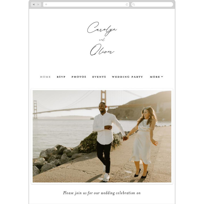 """""""Bold Union"""" - Wedding Websites in Cloud by Everett Paper Goods."""