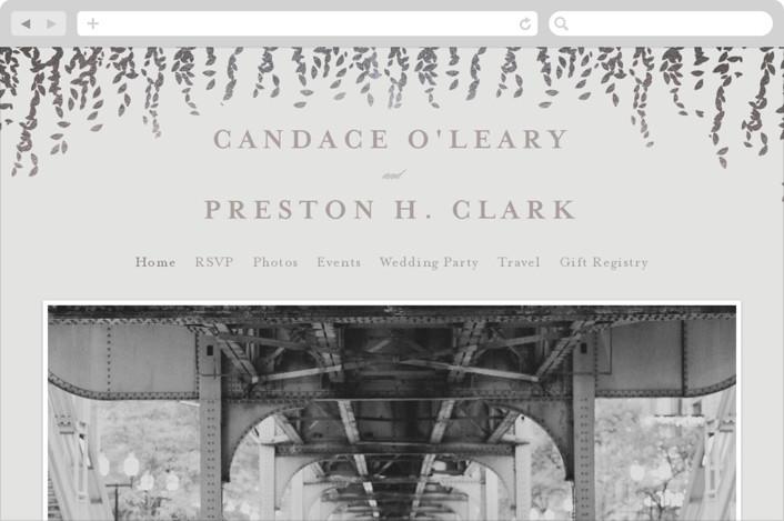 """""""Cascade"""" - Wedding Websites in Mist by Lori Wemple."""