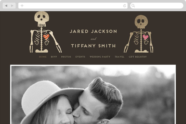 This is a gold wedding website by Katie Zimpel called Until Death printing on digital paper.