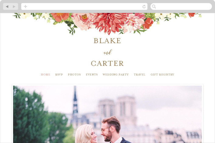 This is a green wedding website by Susan Moyal called Garden Wedding printing on digital paper.