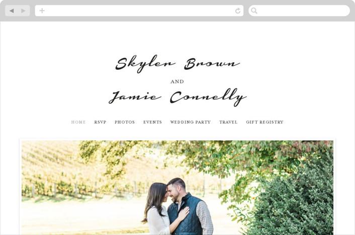 """""""Dressed in White"""" - Wedding Websites in Cloud by Angela Garrick."""