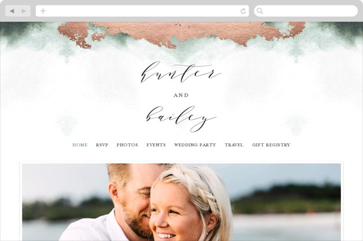 """Fancy Marble"" - Wedding Websites in Moss by Phrosne Ras."