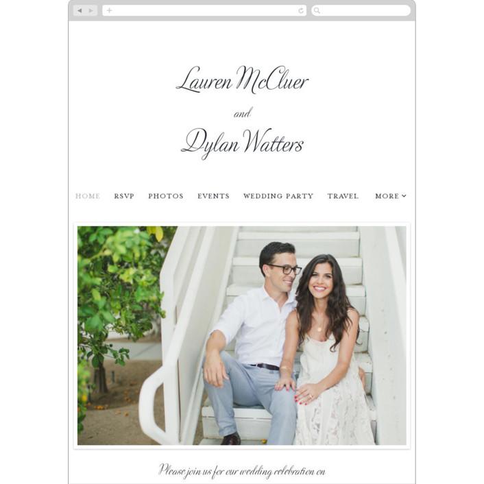 """""""Just My Type"""" - Wedding Websites in Soft Black by Ann Gardner."""