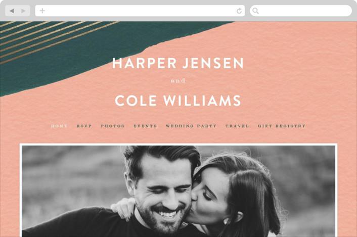 """Artful Oneness"" - Wedding Websites in Cactus by Moglea."