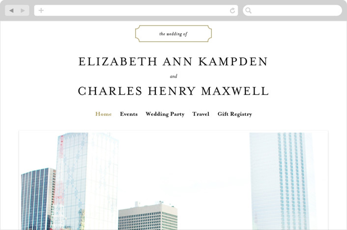 """""""Classy Type"""" - Wedding Websites in Golden by Kimberly FitzSimons."""