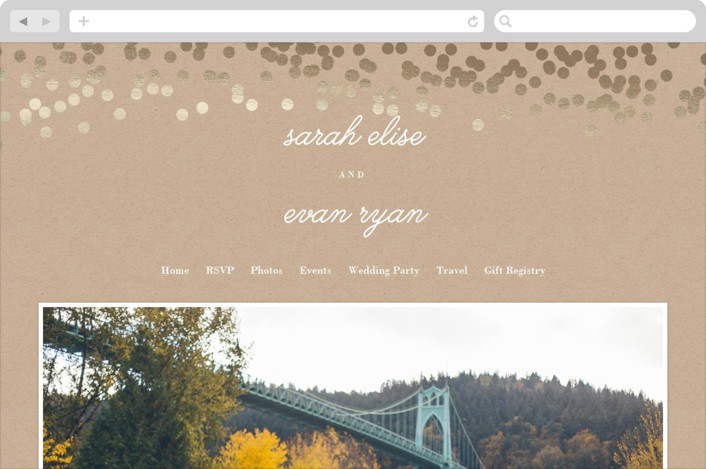 """""""Starlight"""" - Wedding Websites in Kraft by Saltwater Designs."""
