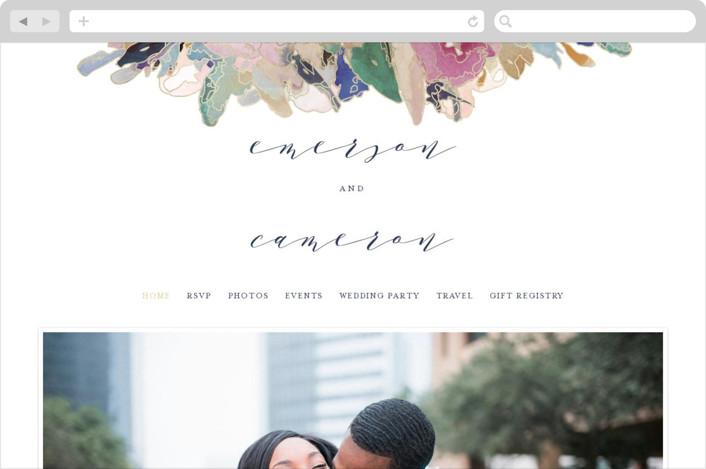 """Gilded Drape"" - Wedding Websites in Fruitcake by Grace Kreinbrink."