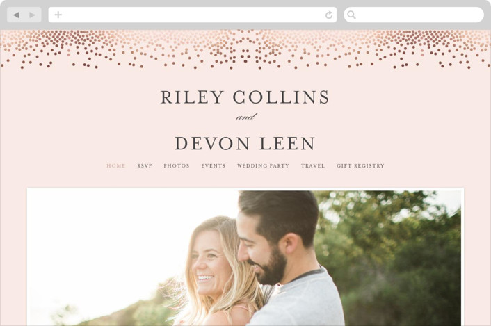 This is a classic colors wedding website by Jennifer Postorino called Love Story printing on digital paper.