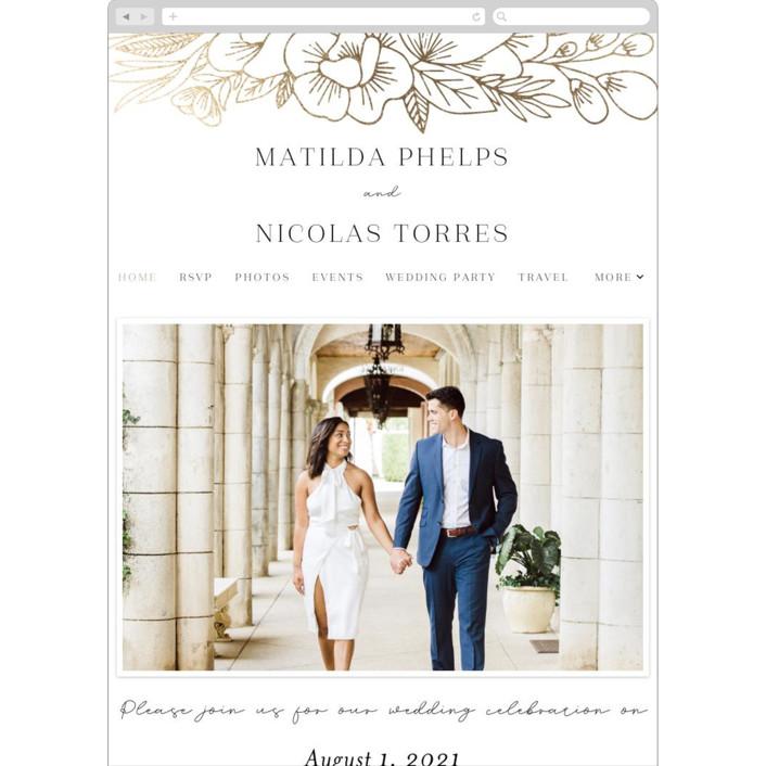 """Refined Bouquet"" - Wedding Websites in Salt by Olivia Raufman."