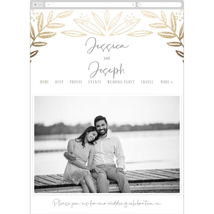 """Opal"" - Wedding Websites in Gold Leaf by Mayflower Press."