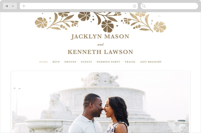 """Jasmine"" - Wedding Websites in Golden Hour by Kristen Smith."