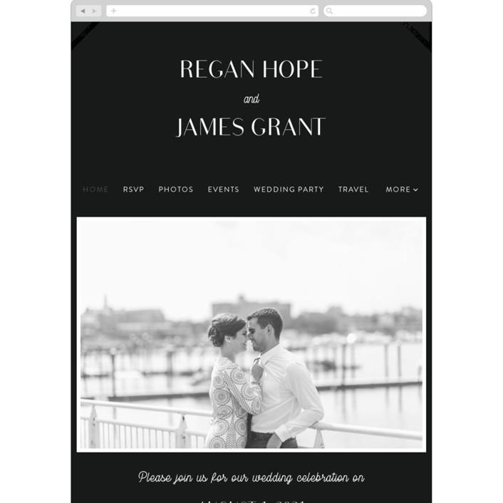 """Brilliant Cut"" - Vintage Wedding Websites in Tuxedo by Meggy Masters."