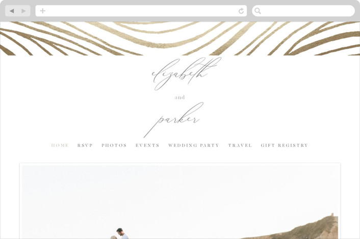 This is a brown wedding website by Kelly Schmidt called Bold Waves printing on digital paper.
