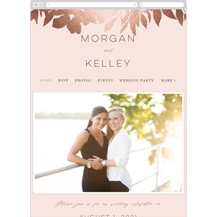 """""""Lavish Bouquet"""" - Wedding Websites in Blush by Everett Paper Goods."""