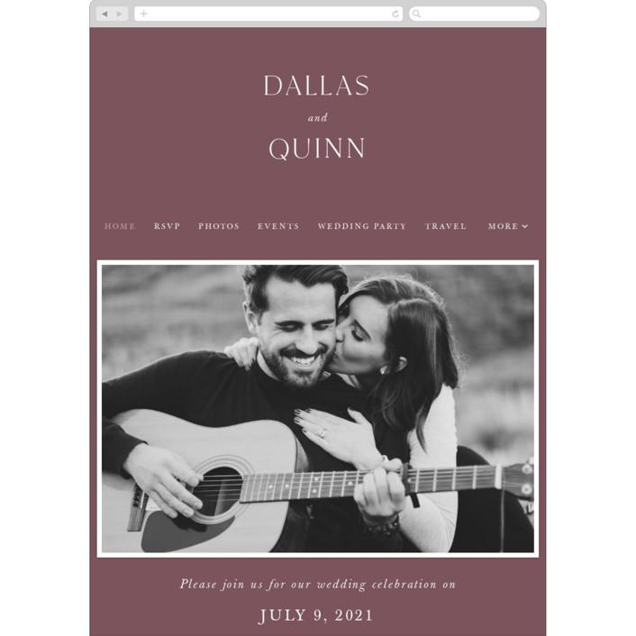 """The Minimalist"" - Wedding Websites in Mauve by Jana Volfova."