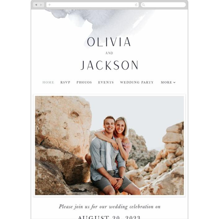 """""""Blueridge"""" - Wedding Websites in Ocean by Leah Bisch."""