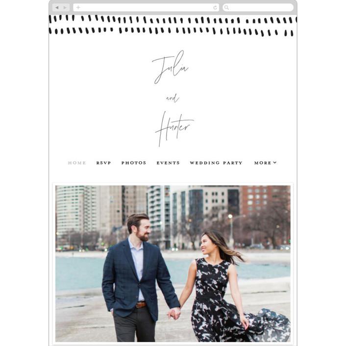 """Landscape"" - Wedding Websites in Black Tie by Laura Hamm."