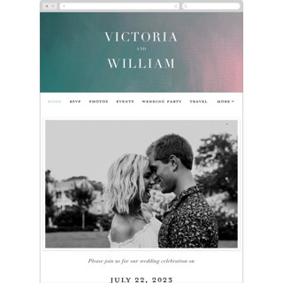 This is a green wedding website by iamtanya called Crazy in Love printing on digital paper in standard.