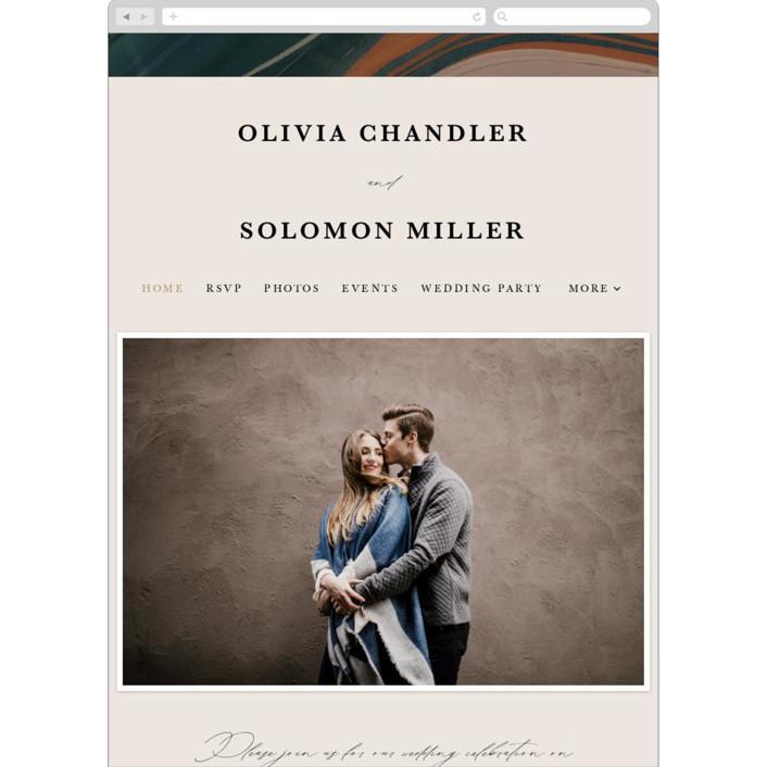 """Love Story"" - Modern Wedding Websites in Turquoise by Kate Ahn."