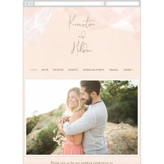 This is a pink wedding website by Jennifer Wick called dawning printing on digital paper.