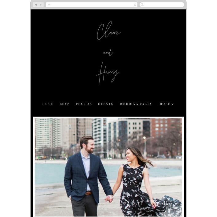 """""""Gotham"""" - Wedding Websites in Ink by Ana Sharpe."""