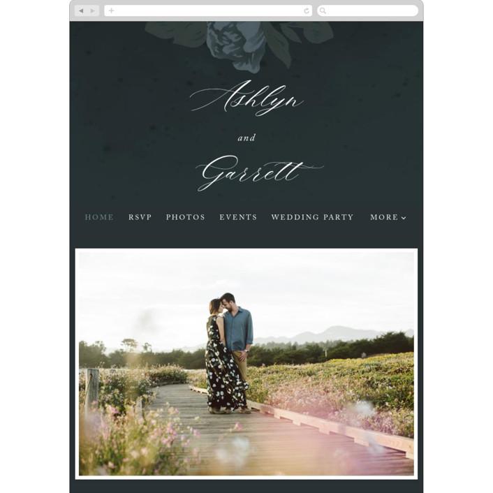 """""""Peaceful Garden"""" - Wedding Websites in Deep Sea by Jill Means."""
