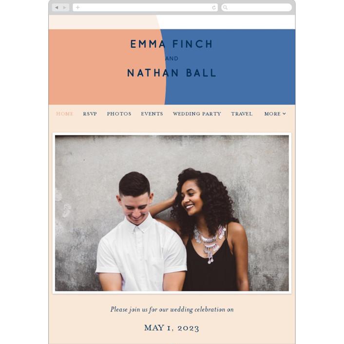 """Color Arch"" - Modern Wedding Websites in Aquatic by Baumbirdy."