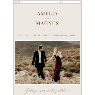 This is a brown wedding website by Alethea and Ruth called Side Column printing on digital paper.