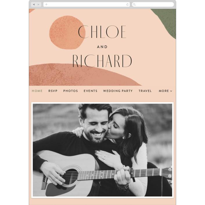 """Abstract"" - Modern Wedding Websites in Desert by Kelly Schmidt."